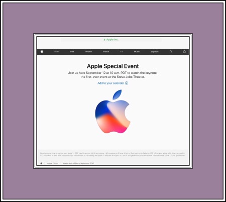 Apple Live Event Announcement