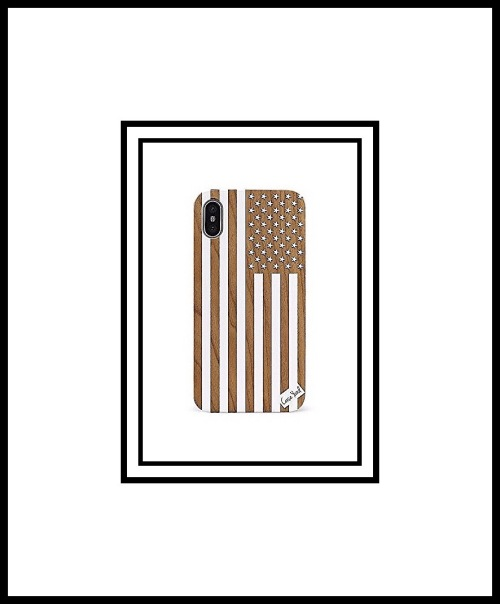 Case goods white American Flag