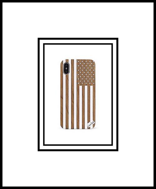 Case goods white American Flag