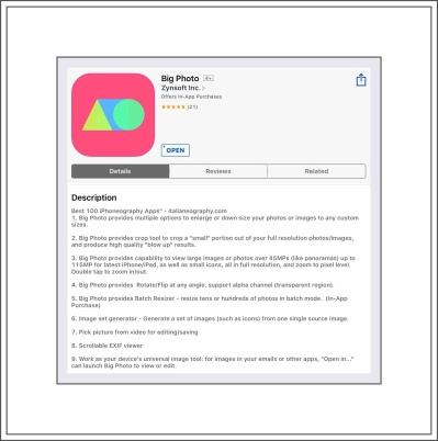 Big Photo ios App $2.99