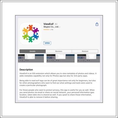 ViewExif ios App $.99