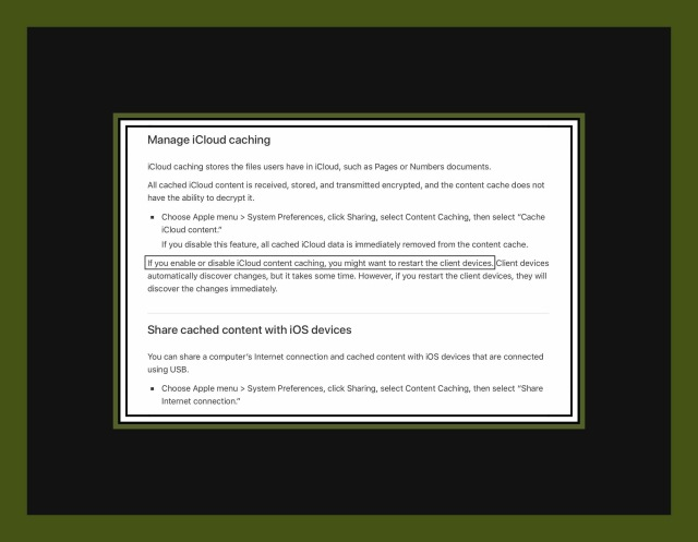 Manage iCloud Caching