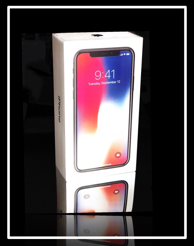 My new iPhone X in the box