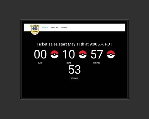 PokémonGo Fest Ticket Sales Notification