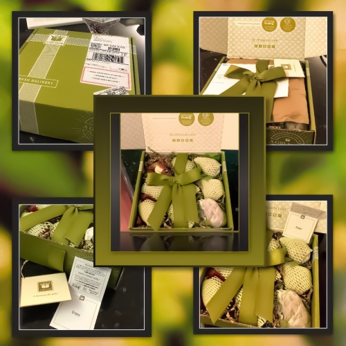 One of the gift box of pears I received