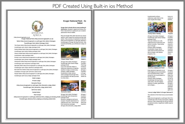 PDF Created Using ios Built-in Method