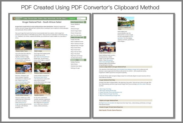 PDF Created Using PDF Convertor's Clipboard Method