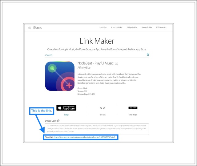 Apple's Link Maker Returns with a Link