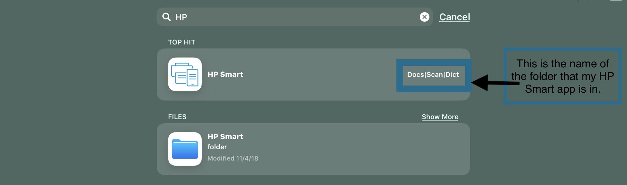 Fix a Missing Print icon in Safari ios 12   HP Printer's Tap to