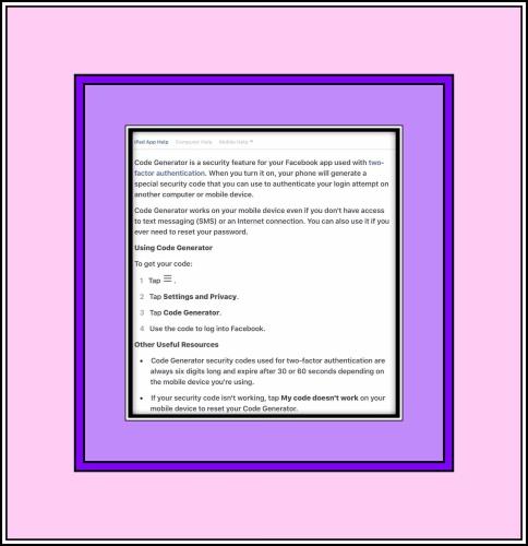A help screen explaining Code Generator.