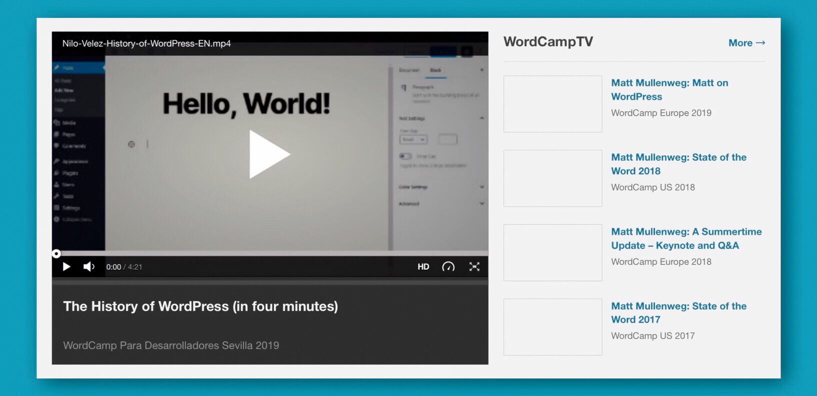 WordPress TV's History of WordPress
